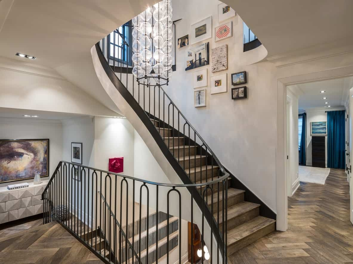 19 Staircase Wall Art Ideas | Interior Design Staircase Wall | Luxurious Home | Unique | Beautiful | Fancy | Building Interior