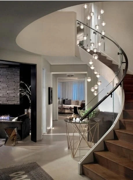 40 Curved Staircase Ideas Photos | Round Staircase House Plans | Beautiful | Small House | Exterior | Dimension | Stair Outside