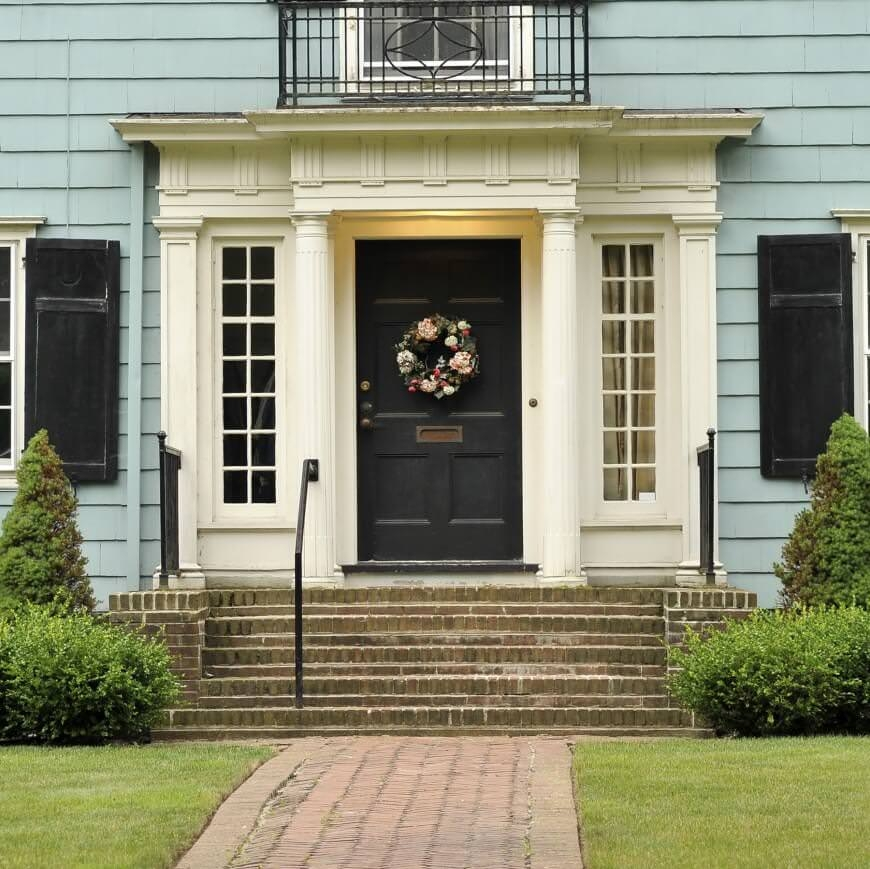 58 Types Of Front Door Designs For Houses Photos   Front Staircase House Design   Residential   Outside   Front Jina   Home Front Valuation   Sitout