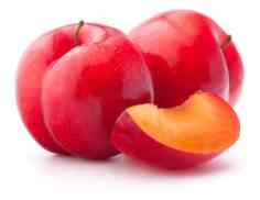 Two red plums