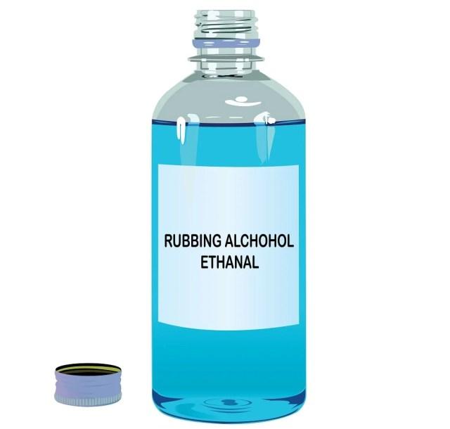 Bir şişe ispirtoyu yakından inceleyin.