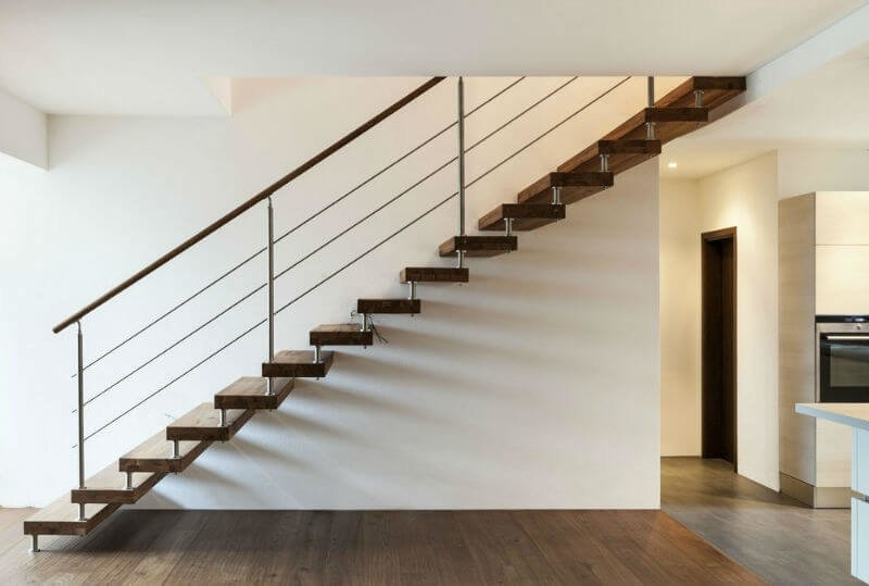 19 Modern Stair Railing Design Ideas Pictures | Modern Stair Rails Indoor | Beautiful | Unique Fancy Stair | Wooden | Industrial | Flat Bar
