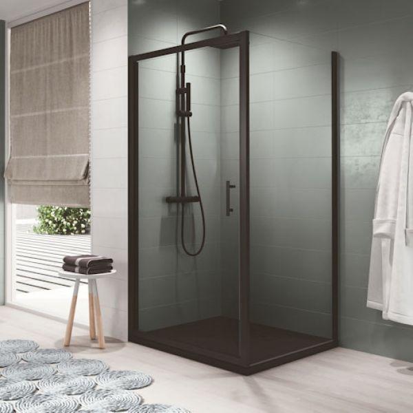Novellini Zephyros G Hinged Shower Door 800 Black Finish Zephyrg76 1h Zephyrg76 1h