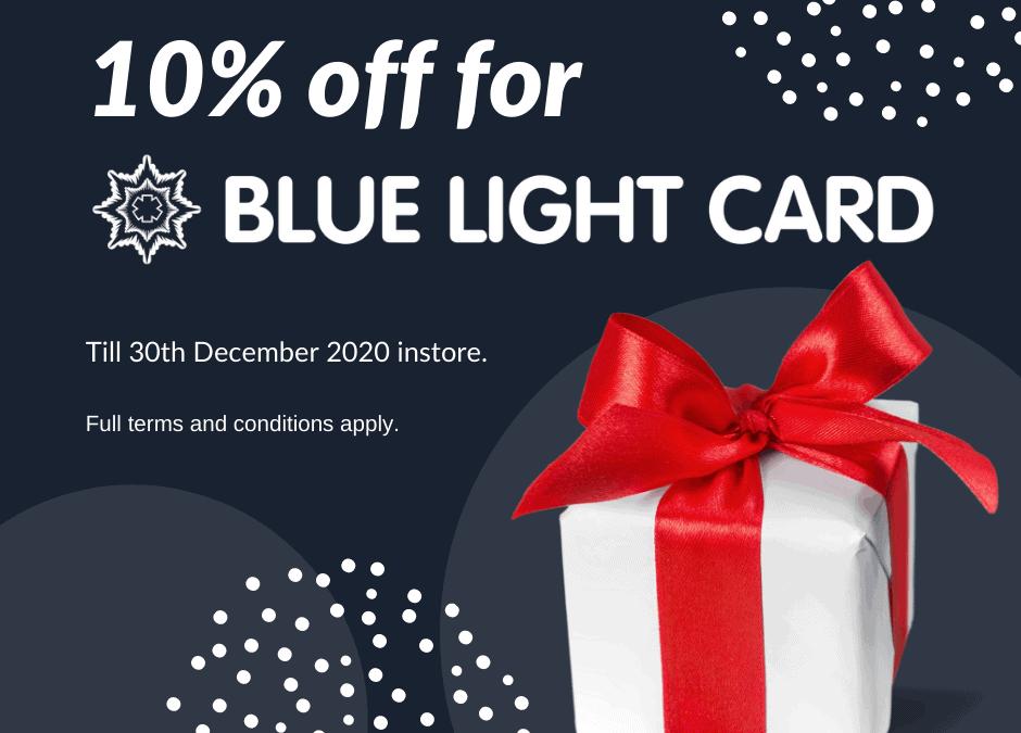 Blue Light Card offer