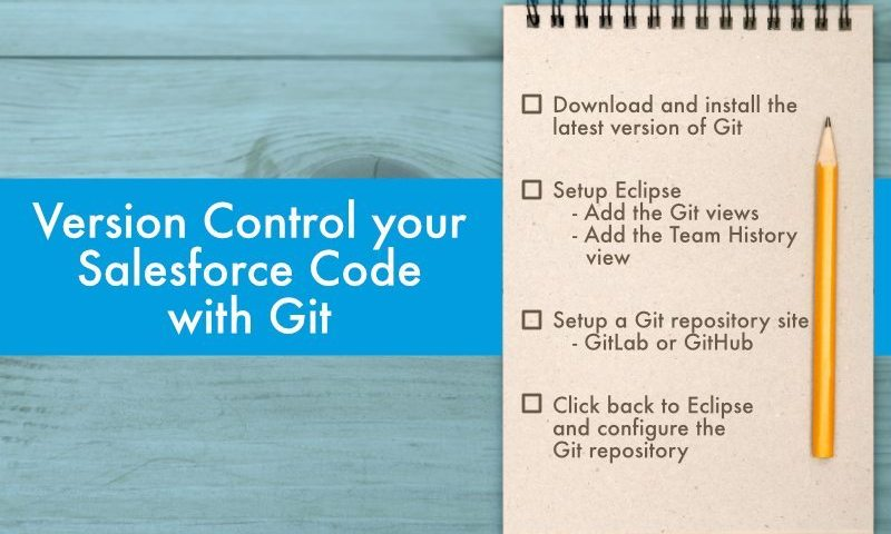 Salesforce Code: How to Version Control your Code with Git