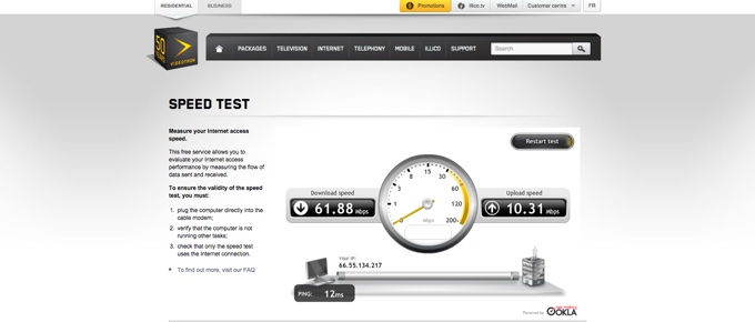 Videotron Speed Test