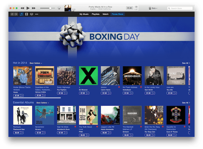 iTunes Boxing Day Sale