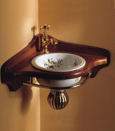 x22 wall mounted corner bathroom sink