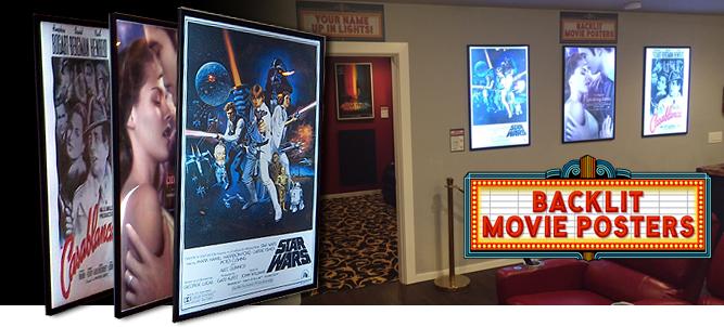 led backlit movie poster frame