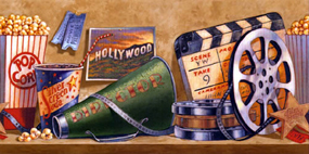 Hollywood Theater Wallpaper Border For Home Theater Decor