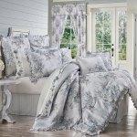 Estelle Blue Cal King 4 Pcs Comforter Set
