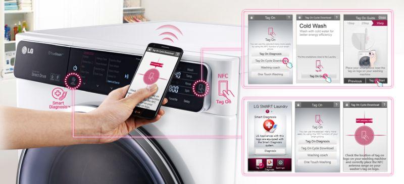 LG smart washing machine