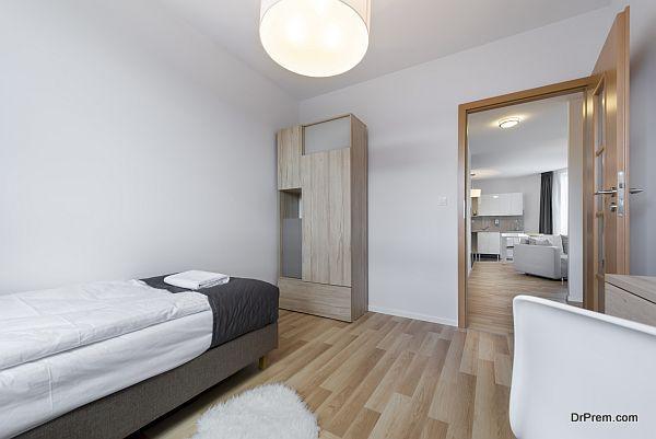 Compact and modern sleeping room