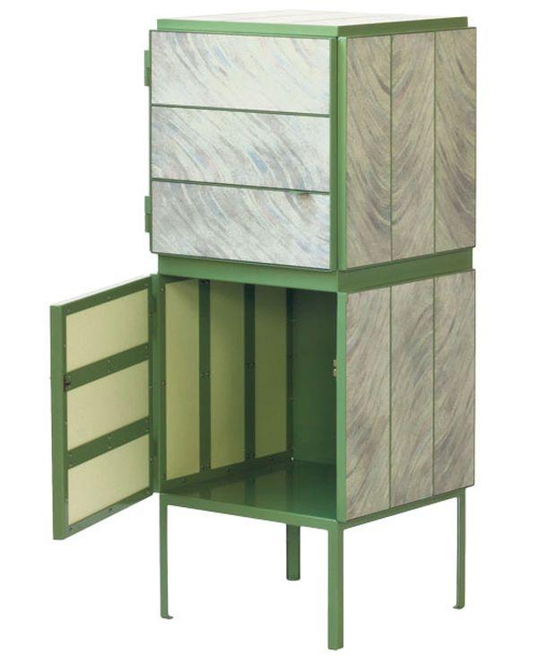 NewspaperWood cabinets (3)