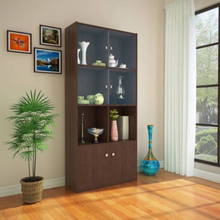Buy Crony Engineered Wood Book Shelf In Wenge Colour By