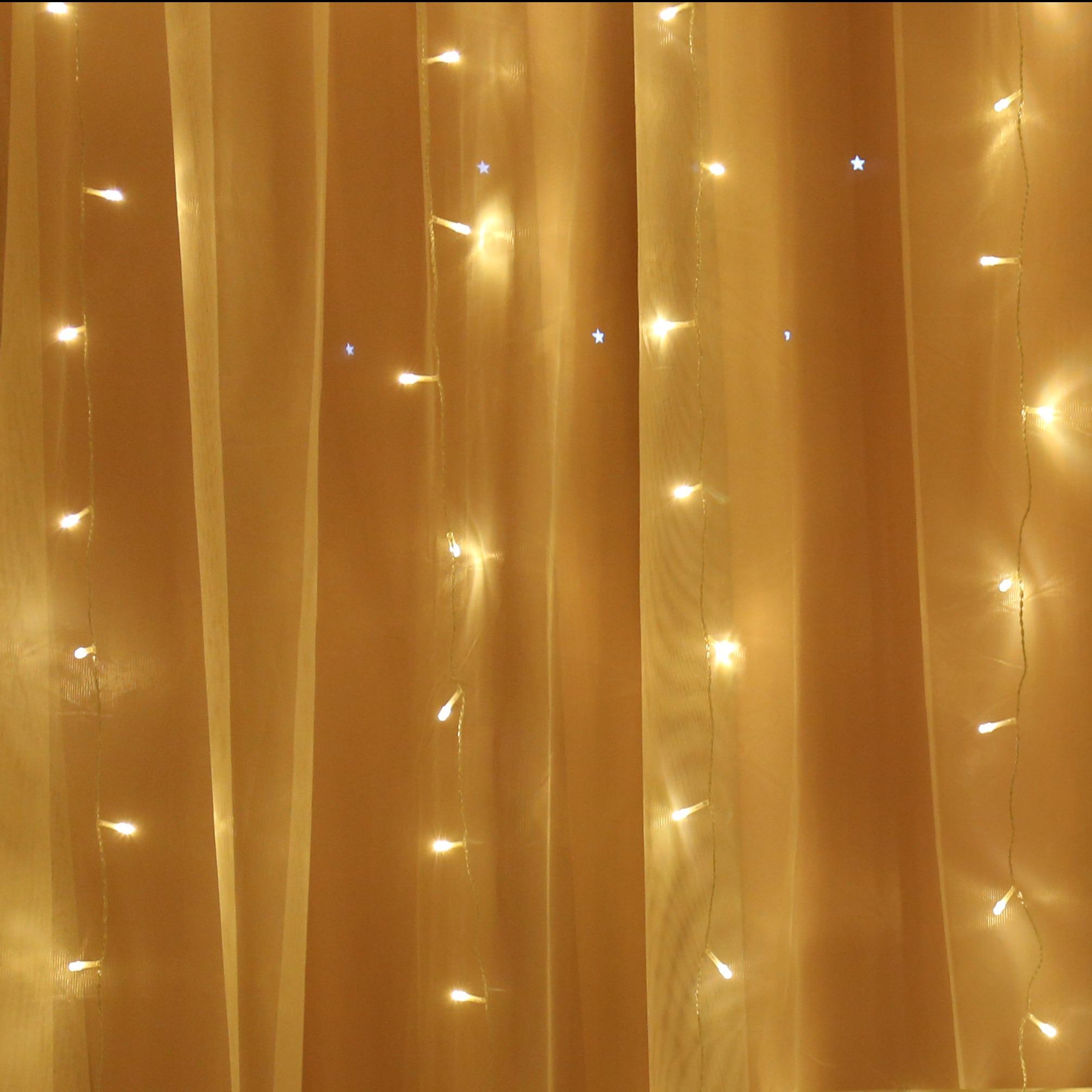 led fairy light curtain