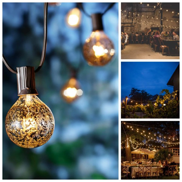 Mercury string light collage