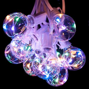 Multicolor G40 globe string lights
