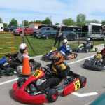 Go-karts burn up the track at Lombardy Raceway Park