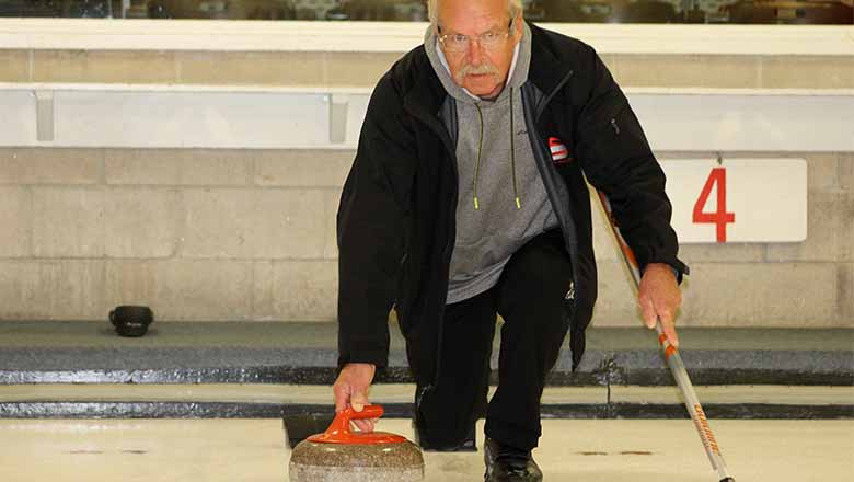 Jim McVeety curling.