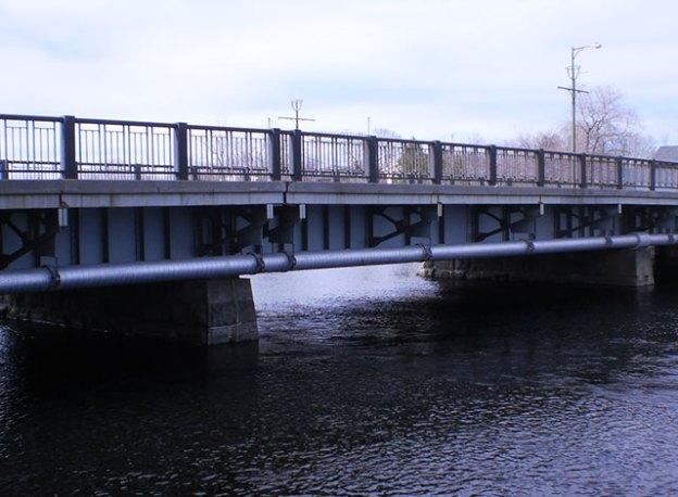 Central bridge in Carleton Place.
