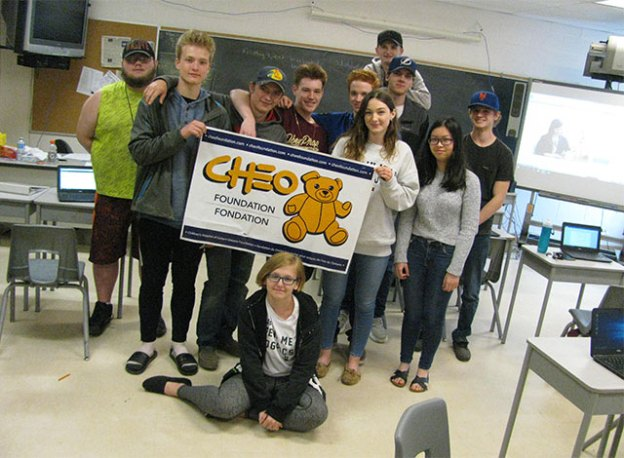 Students in Breanna Bedor's Gr. 12 English class at SFDCI
