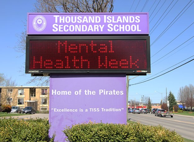 School sign that reads Mental Health Week.