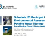Schedule 'B' Municipal Class Environmental Assessment Potable Water Storage