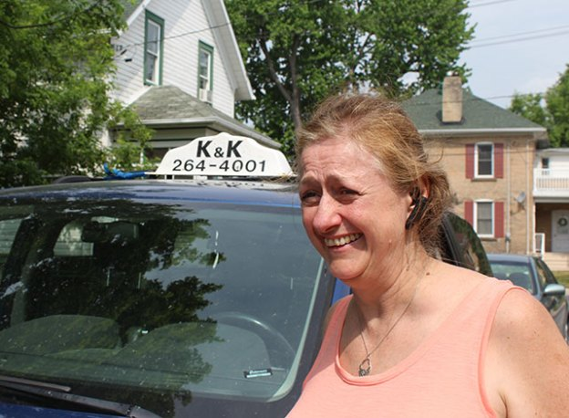 The new K&K Cab owner Leanda Bracegirdle