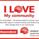 Lanark County Independent Grocers running I Love My Community Point of Sale Campaign in support of United Way