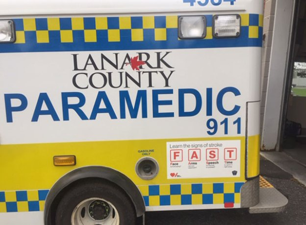 F.A.S.T. on the side of Lanark County Ambulance