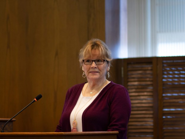 Flora Riley speaks to the Smiths Falls council