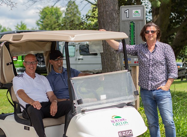 Rolling Greens golf pro Mike Sherman, Director of Operations Joe Lopes, and Director of Entertainment Gordon Weiske