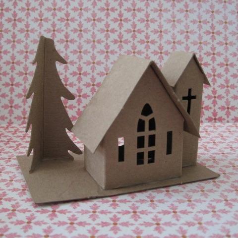 Putz Village Kit Glitter House Kit Amy Smith