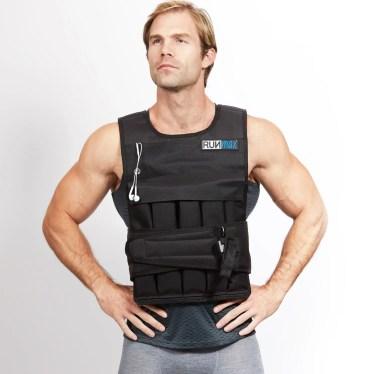 Man Wearing a Weight Vest