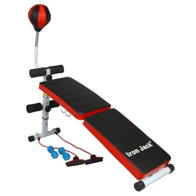 Iron Jack Sit Up Bench With Speedball