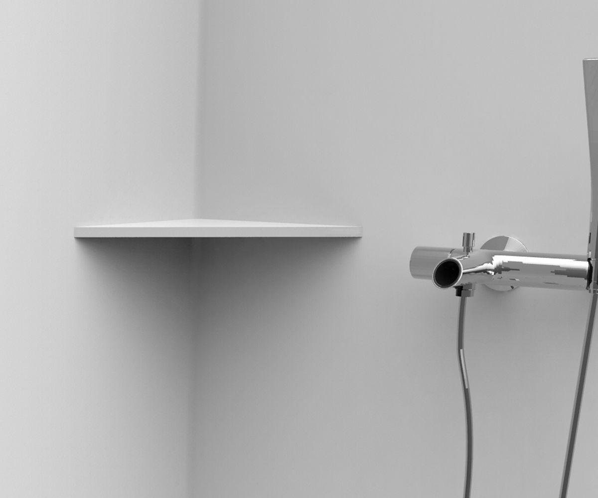 tablette d angle de 12mm pour paroi murale 200x200 mm