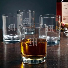 Personalized Rocks Glasses, set of 4