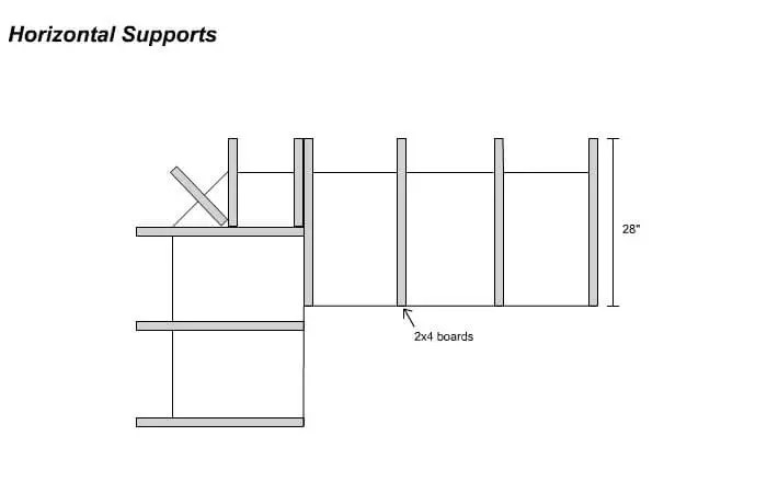 bar plans - horizontal supports