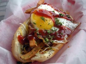 Fried Egg Hot Dog Topping