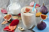 Fresh Smoothie With Figs And Cashew Horizontal