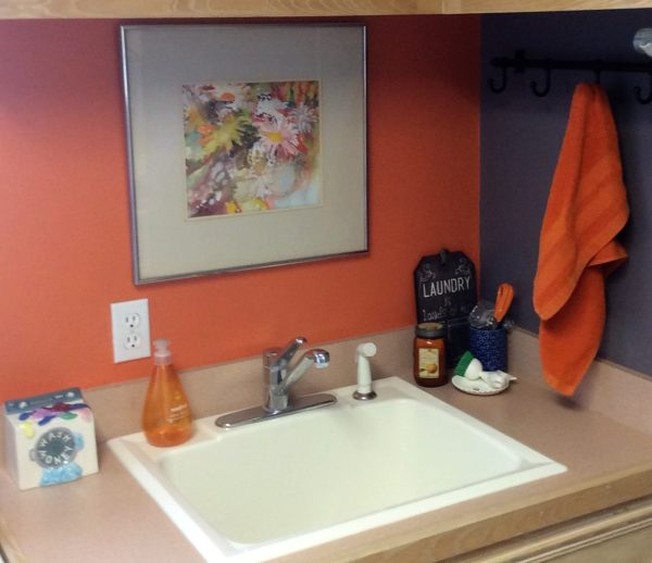 julie laundry room with sink