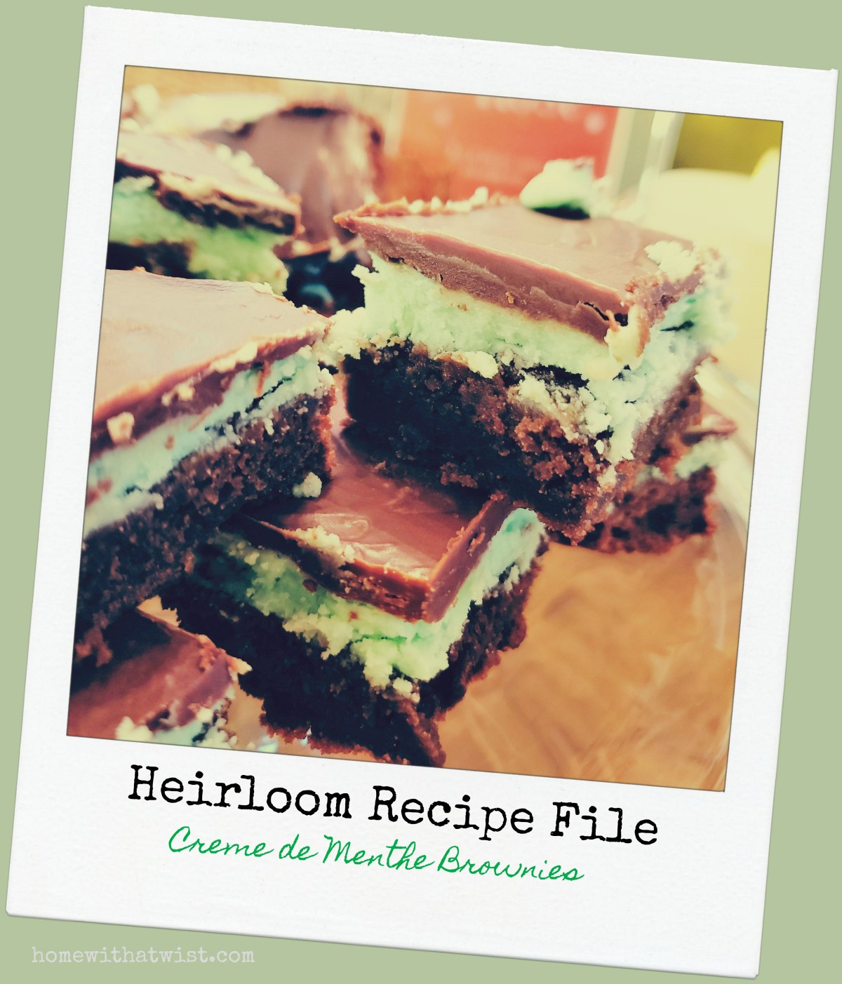 Creme De Menthe Brownies – just like Andes Mints
