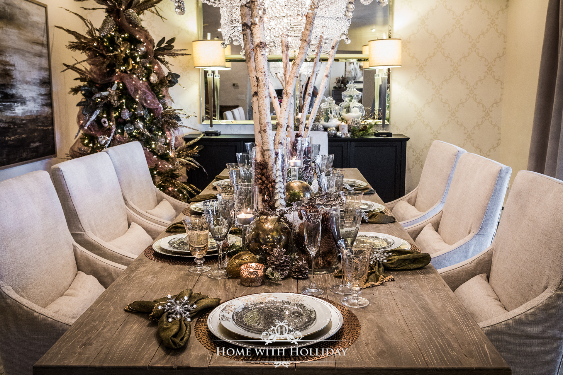 Christmas Home Tour 2017 - Winter Glam Dining Room - Home with Holliday