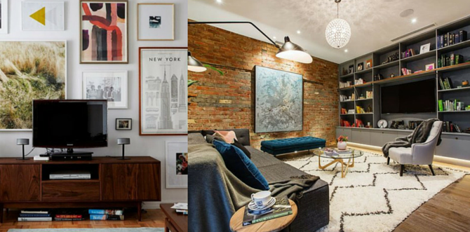 Styling Your Living Room To Hide Your Tv Homeworld