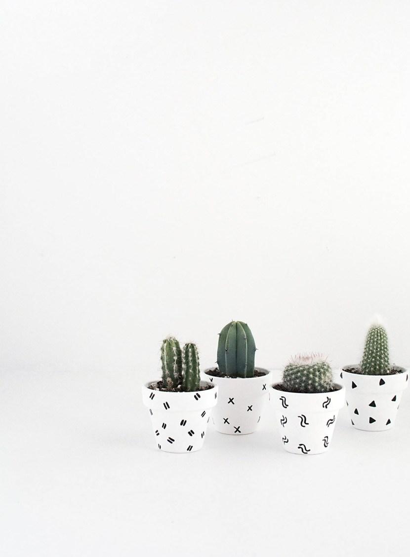 DIY Mini Patterned Plant Pots-2