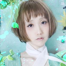 Hitomi Yotsu of Japanese yami-kawaii idolcore group Zenbu Kimi no Sei Da