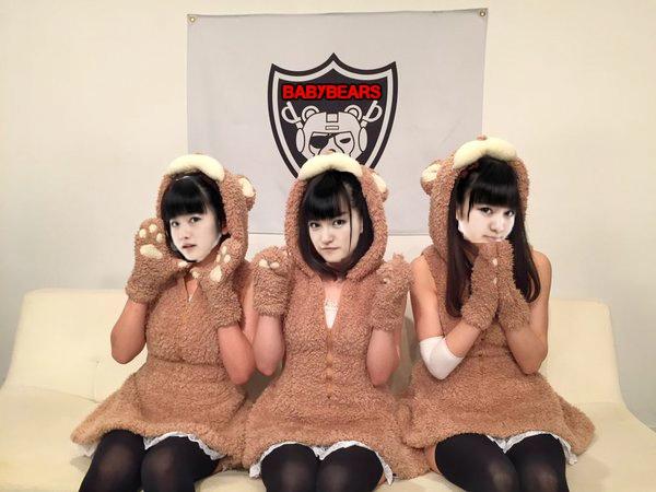 Babybears, a mashup of Babymetal and Ayumikurikamaki, winner of the first Homicidol Mashup