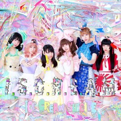 Cover art for alt-idol denpacore idol group ICE CREAM SUICIDE's debut EP I.S.C.R.E.A.M.