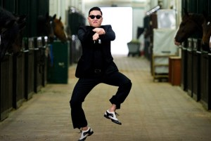 """A still from the 2012 KPop video """"Gangnam Style"""" by PSY"""